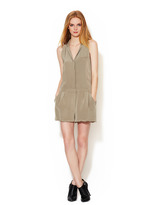 Elizabeth and James Carrie Notched Collar Silk Romper