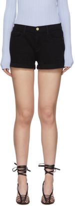 Frame Black Denim Le Cutoff Cuffed Shorts