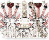 Valentino Embellished leather cross-body bag