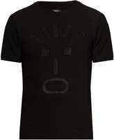 Fendi Faces-appliqué crew-neck T-shirt