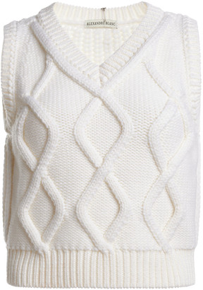 Alexandre Blanc Wool Cable-Knit Sweater Vest