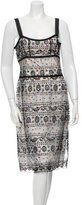 Cacharel Printed Lace Dress