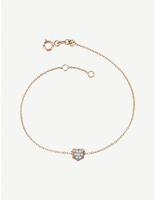 Rosegold The Alkemistry Kismet by Milka 14ct rose-gold and diamond Leo bracelet
