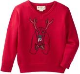 Beetle & Thread Reindeer Dog V-Neck Sweater (Baby Boys)