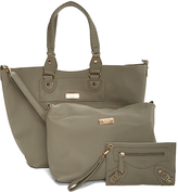 BCBGMAXAZRIA Gray Convertible Tote Set