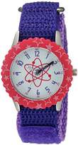 EWatchFactory Girl's 'Discovery Channel' Quartz Stainless Steel and Nylon Sport Watch, Color:Purple (Model: WDC000002)