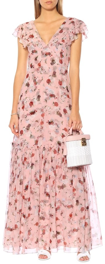 Thumbnail for your product : Erdem Exclusive to Mytheresa Franceline floral silk-voile gown