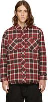 Facetasm Brown Down Check Shirt Jacket