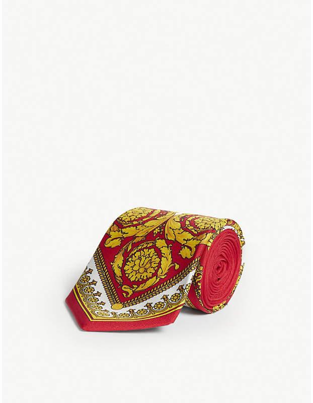 8699cd017e Baroque print silk tie