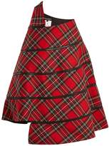 Junya Watanabe Tartan-checked panelled wool skirt