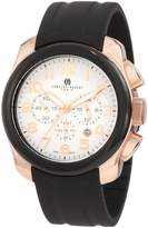 Rosegold Charles Hubert Charles-Hubert, Paris Men's 3809 Premium Collection Rose-Gold Stainless Steel Chronograph Watch