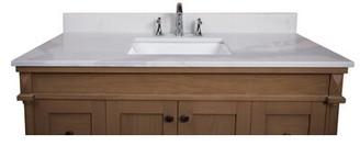 "Calacatta Quartz 49"" Single Bathroom Vanity Top Renaissance Vanity"