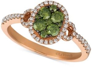 LeVian Le Vian Exotics Diamond Halo Ring (5/8 ct. t.w.) in 14k Rose Gold