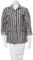 Suno Striped Button-Up Top