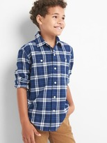 Gap Plaid flannel long sleeve shirt