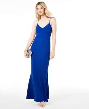 B. Darlin Juniors' Lace-Back Gown
