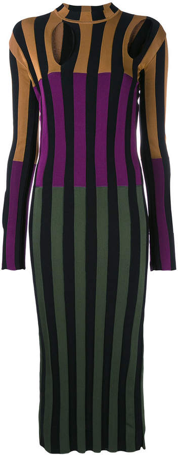 Nina Ricci colour block striped dress
