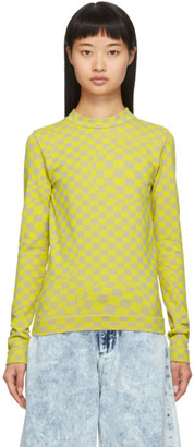 Off-White Yellow Stretch Long Sleeve T-Shirt