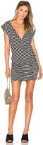 Pam & Gela Henley Muscle Dress in Black & White. - size XS (also in )