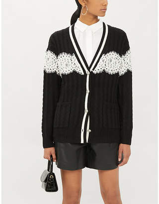 Claudie Pierlot MiehlH19 lace wool-blend cardigan