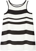 DKNY Striped pleated shift dress 6-16 years