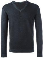 Zanone V-neck knit vest - men - Virgin Wool - 50