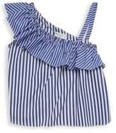 Milly Minis Toddler's, Little Girl's & Girl's One Shoulder Ruffle Stripe Top