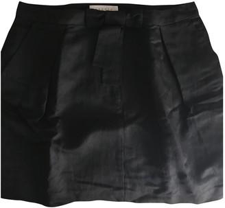 Sandro Black Linen Skirt for Women