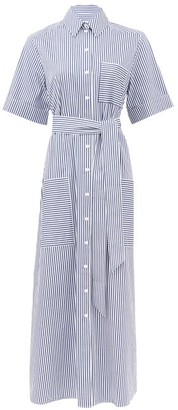 Cefinn Striped Cotton-poplin Shirt Dress - Navy White