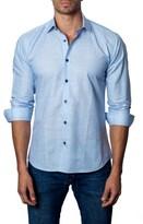Jared Lang Men's Trim Fit Vertical Stripe Sport Shirt