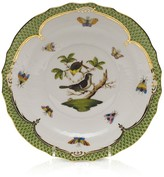 Herend Rothschild Bird Green Border Salad Plate