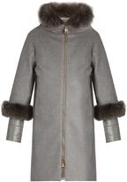 Herno Fur-trimmed cashmere coat