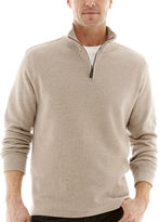ST. JOHN'S BAY St. John's Bay Quarter-Zip Double-Knit Pullover