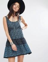 MANGO Printed Tiered Dress