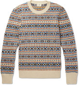 Kent & Curwen Fair Isle Wool, Mohair and Silk-Blend Sweater