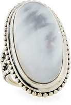 Stephen Dweck Crystal Quartz & Mother-of-Pearl Long Oval Ring, Size 7