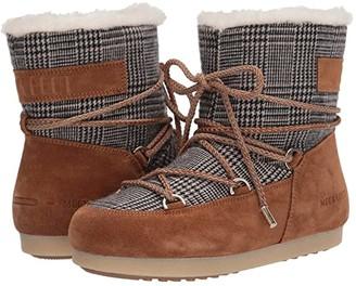 Moon Boot r) Far Side Low Faux Fur/Tartan (Whiskey) Women's Boots