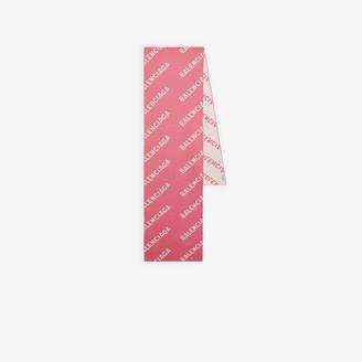 Balenciaga Allover Logo Scarf