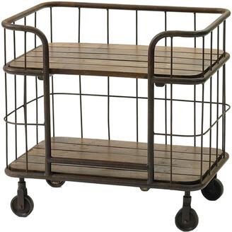 Go Home Farmhouse 4 Wheels Side Table