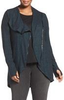 Melissa McCarthy Asymmetrical Zip Jacket (Plus Size)