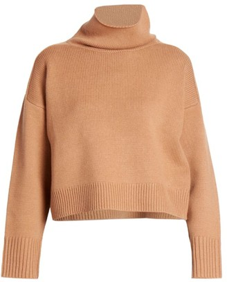 LOULOU STUDIO Stintino Funnelneck Wool & Cashmere Knit Sweater