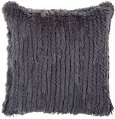 Aviva Stanoff Knitted Rabbit Fur Pillow