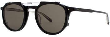 Garrett Leight Hampton Square Acetate Sunglasses, Matte Black