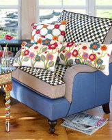 Mackenzie Childs MacKenzie-Childs Underpinnings Blue/Checks Lounge Chair