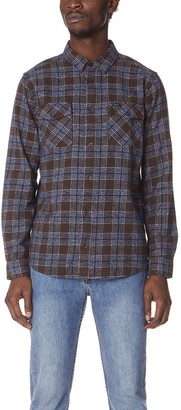 RVCA Men's That'll Work Long Sleeve Flannel Shirt
