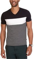 Nautica Mens Slim-Fit Pieced Stripe Graphic T-Shirt 2Xl