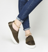 Office Coco Chain Satin Flatforms