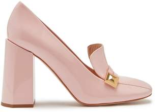 Mulberry Poppy Pyramid Heeled Stud Loafer Icy Pink Patent