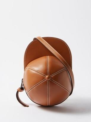 J.W.Anderson Cap Midi Leather Cross-body Bag - Tan