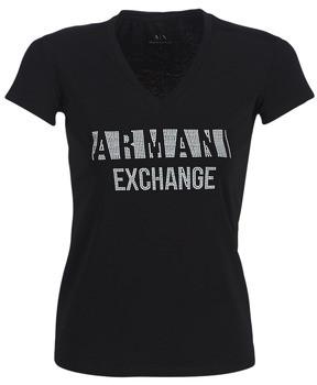 Armani Exchange HELBATA women's T shirt in Black